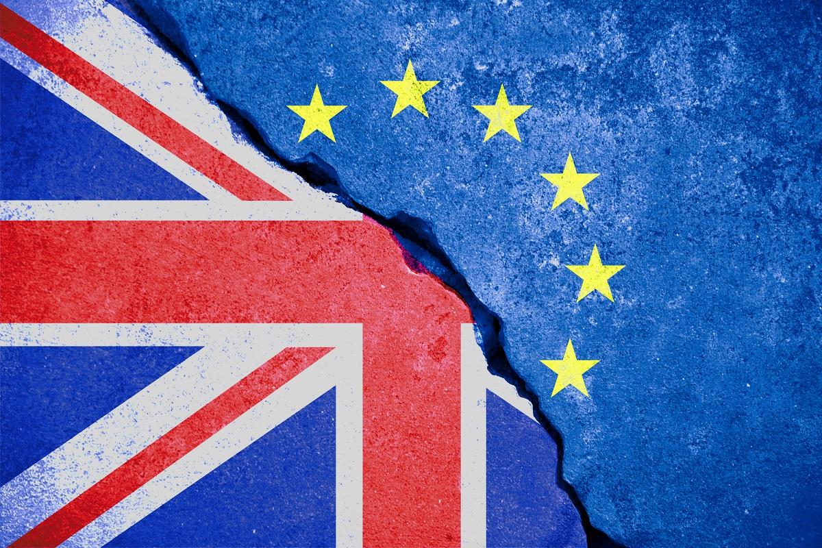 UK and EU flags together - Rouzbeh Pirouz